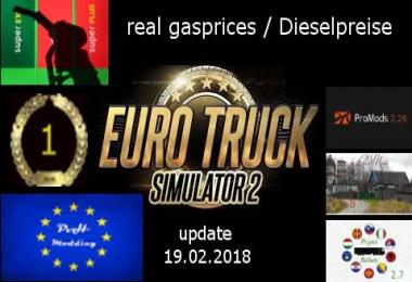 Real gasprices/Dieselpreise update 19.02 1.81