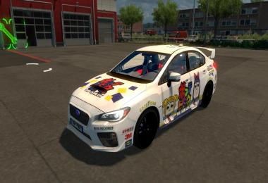 Pop Team Epic Paint Job for Subaru Impreza 2017 v1.0