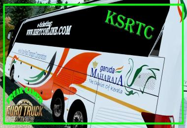 Indian Bus KSRTC Maharaja Skin for SETRA 517 HDH 1.30.x