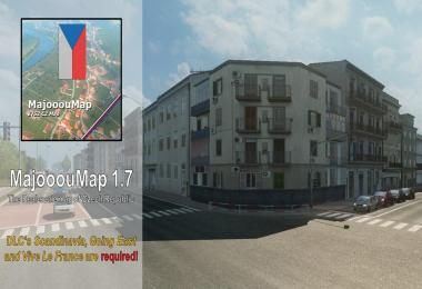 MajooouMap v1.7 / Real-scale map of Czech Republic 1.30