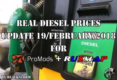 Real Diesel Prices Promods 2.26 & RusMap v1.8
