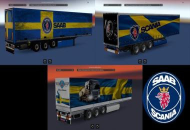 Saab and Scania Trailers by azannya26