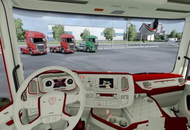 Scania 2016 S&R CMI Red Beige Interior v1.0