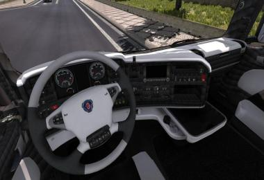 Scania R Black White Interior 1.30.x