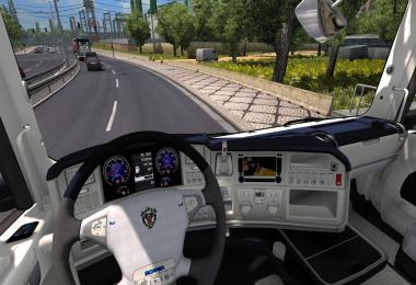 Scania R Blue White Interior v1.0