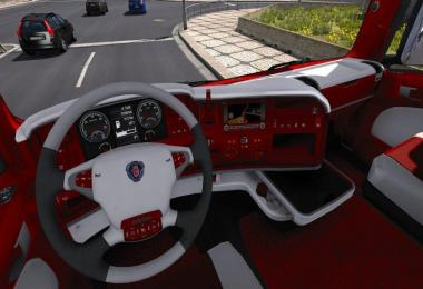 Scania R Red Interior 1.30.x