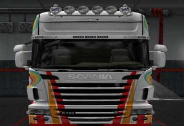 Striped Skin for Scania R 2012 v1.0