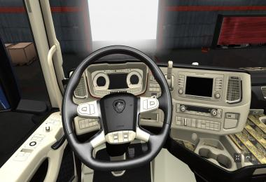 The interior for Scania 2016 v4.0