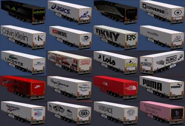 Trailers of real brands of clothes and footwear All versions