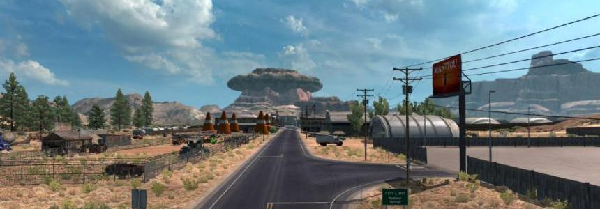Radiator Springs Map add-on by ETS2-User