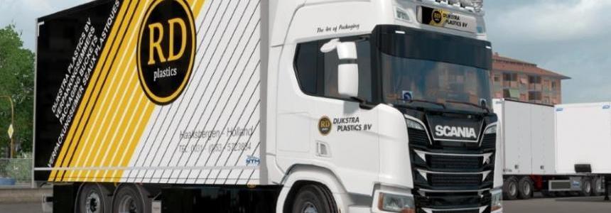 Scania R Next Generation Dijkstra Plastics BV Skin Pack v1.0