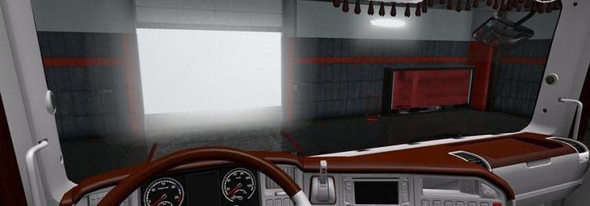 Scania RJL Brown White Interior TD v1.0