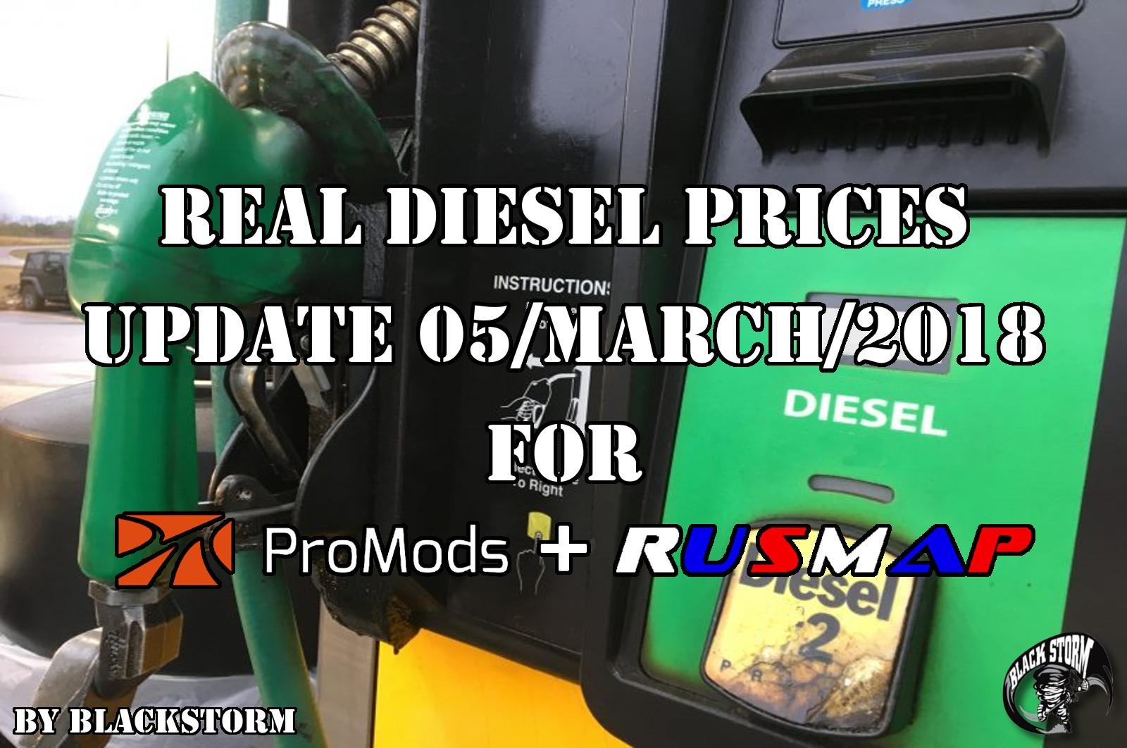 Real Diesel Prices Promods 2.26 & RusMap 1.8 (update 05-03-2018)