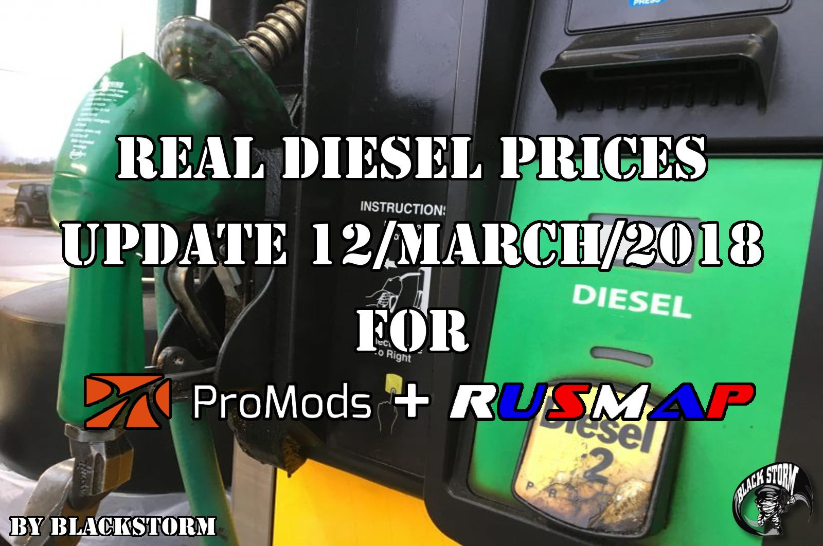 REAL DIESEL PRICES PROMODS V2.26 & RUSMAP V1.8 (UPDATE 12/03/2018)