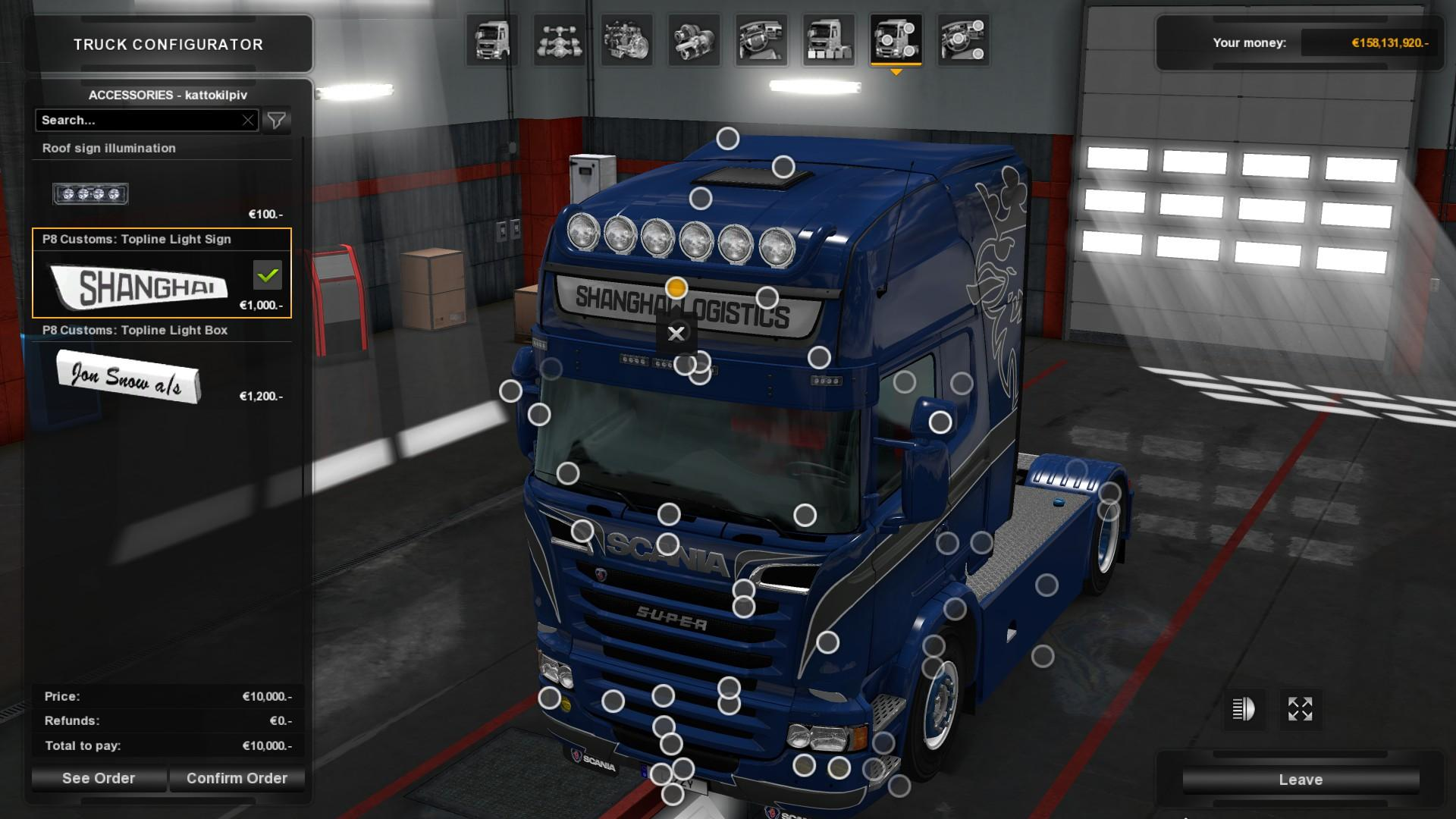 Scania RJL - Shanghai Logistics Paintjob by l1zzy - Modhub us