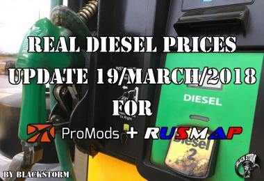 Diesel prices for ProMods Map 2.26 & RusMap v1.8
