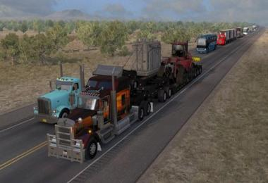 ATS Doubles/Triples/Heavy Trailers in Traffic v1.0