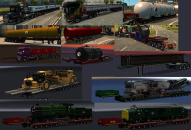 Chris45 Trailers Pack V9.09 for ETS2 V1.30