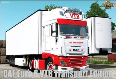 DAF Euro 6 VTB Transport Edition + Trailer v1.0 1.30.x