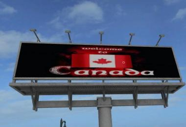FS17 Canada Welcome Billboard Placeable v1.0