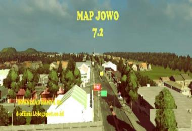 Map Jowo v7.2 (Indonesian Map for ETS2 v1.30)