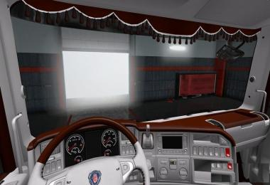 Scania RJL Brown White Interior TD v1.0