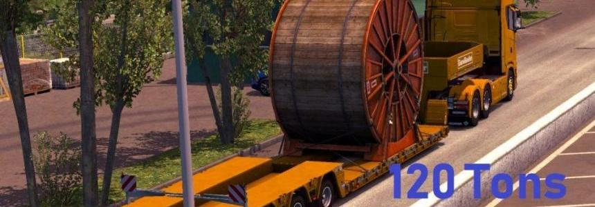 120 Tons Heavy Cargo Trailers v1.0