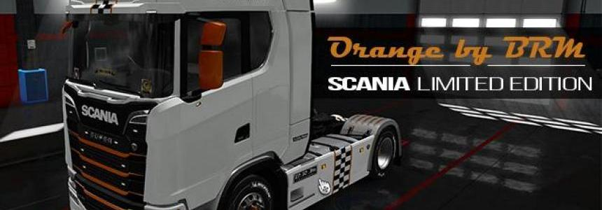 Scania S Limited Edition BRM White-Orange - By Gilnews 1.30