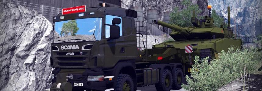 Turkish Military Truck Scania Hema and Trailer pack 1.30