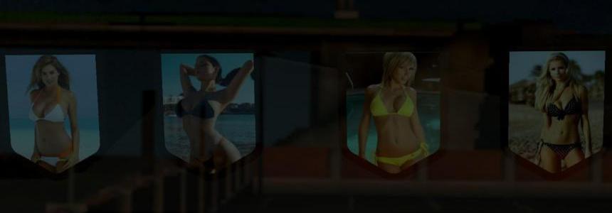 Bikini Hot Girls Pennants Pack #2