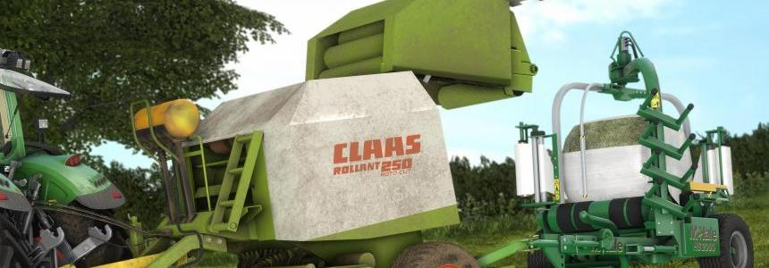 Claas Rollant 250 With Bale Wrapper Arm v1.0