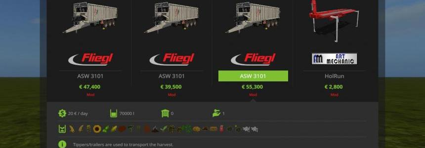 FLIEGL GIGANT ASW 3101 + TRAILER HITCH v1.1.0