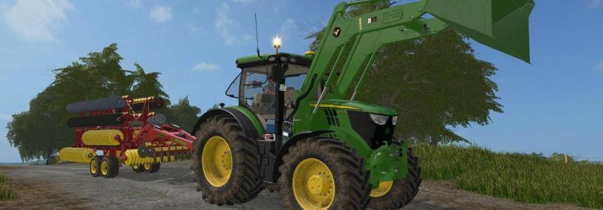 John Deere 6R 6135-6250 - H480 Frontlader - Aunbaugerate v2.6