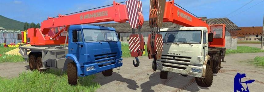 Kamaz 65222K Crane v1.0