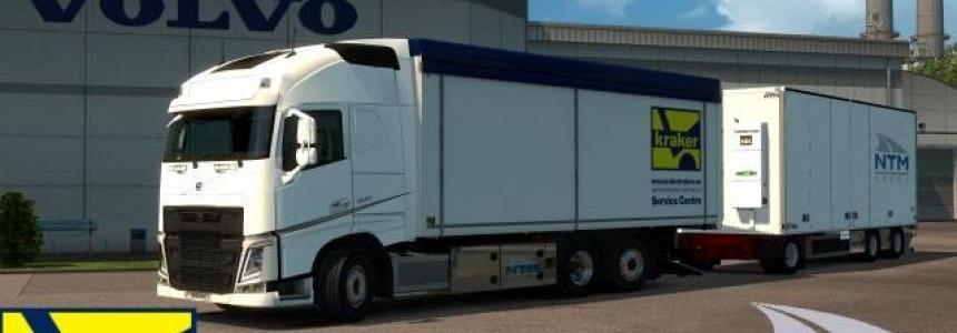 Kraker, NTM, Ekeri Tandem addon for Volvo FH 2012 by Kast