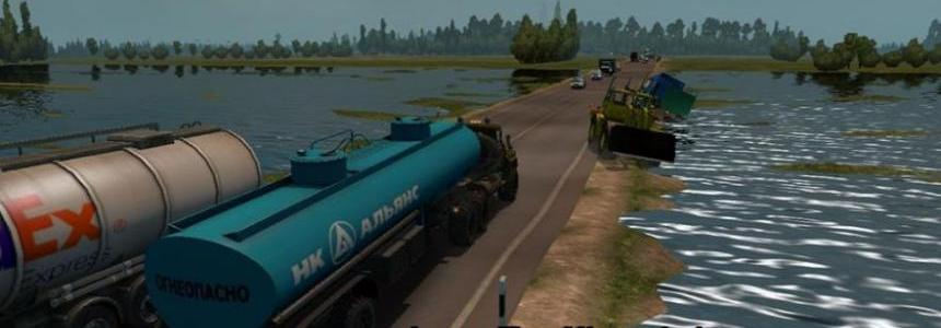 Less traffic for the map Severe Russia for ETS2 v1.1