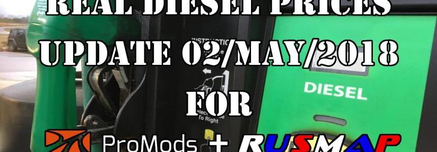 Real Diesel Prices Promods v2.26 & RusMap v1.8 (update 02-04-2018)