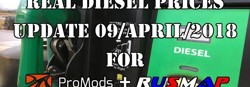 Real Diesel Prices Promods Map 2.26 & RusMap v1.8
