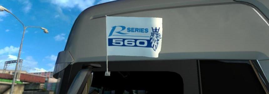 Scania R series 560 Flags & Pennant v1.0