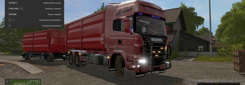 Scania V8 hook lift with rail trailer v1.0.4.0