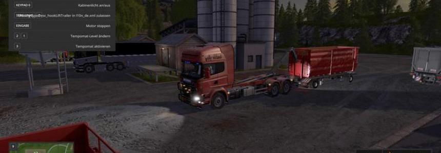 Scania V8 hook lift with rail trailer v1.0.4.3 Final