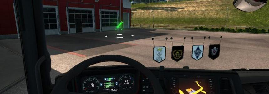 Scania V8 & Vabis Pennants Pack v1.0
