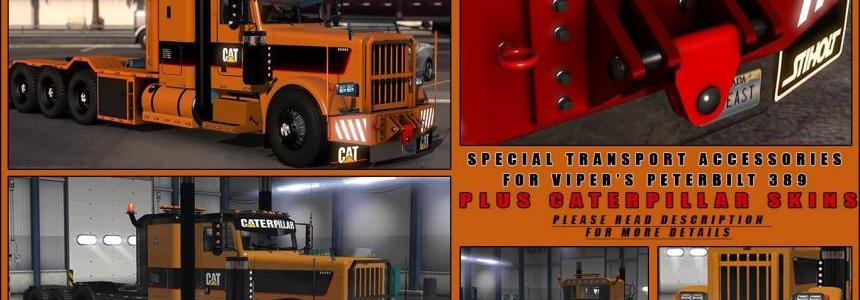 Special Transport Accessories + Caterpillar skins v1.0