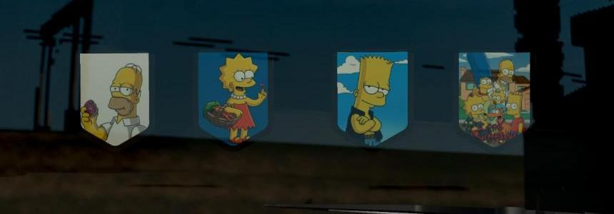 The Simpsons Pennants Pack #1
