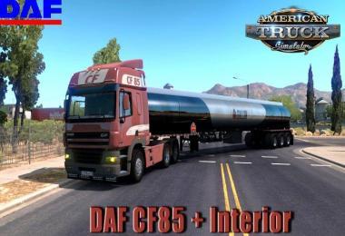 [ATS] DAF CF85 + Interior v0.2.1 (1.31.x)