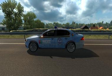 Police skin car + skoda + bd skin v1.0
