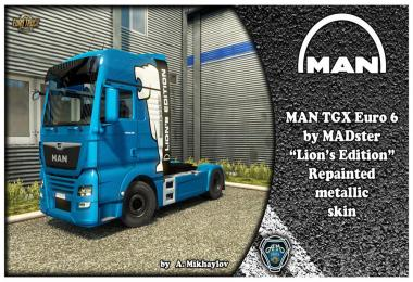 MAN TGX Euro 6 Lion's Edition skin