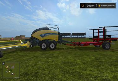 New Holland BB1290 + Nadal R90 + Trailer attacher v1.0