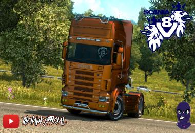 Open Pipe v8 sound for scania 4 series RJL v1.0