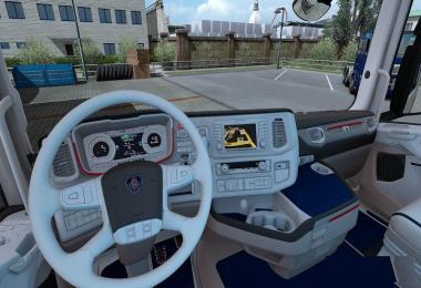 Scania New Generation Interior White Blue v1.0